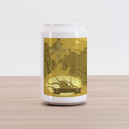 Amazon.com: Lunarable Kraken Cola Can Shape Piggy Bank ...