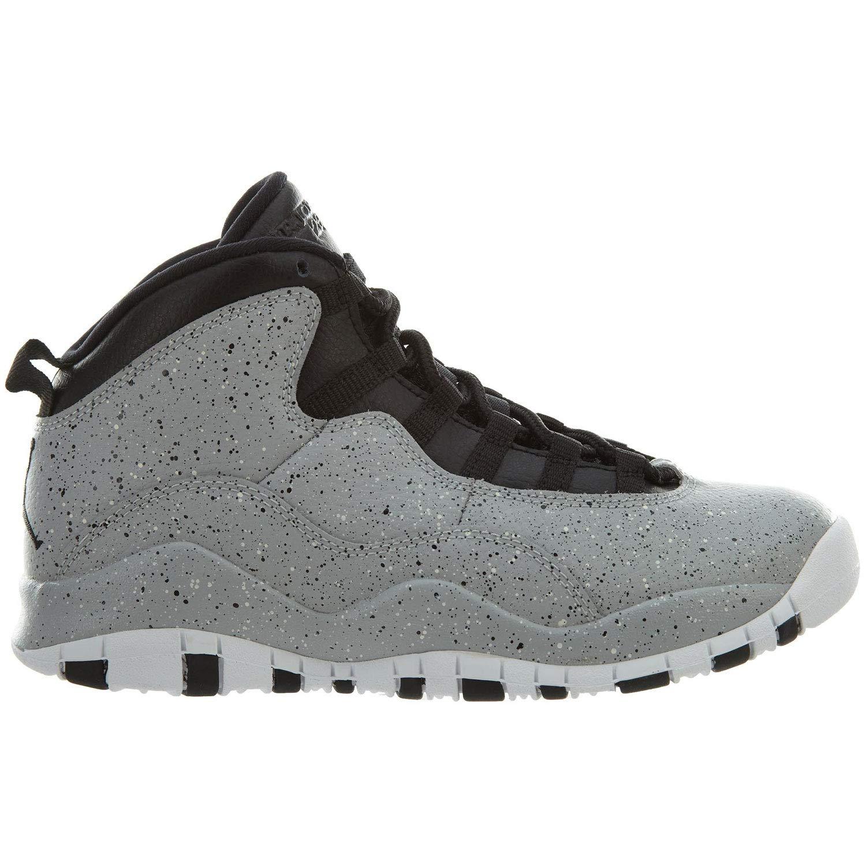 huge selection of 6006f 9020e Galleon - NIKE Kids Air Jordan 10 (GS) - Light Smoke - Grey Black-White  Cement Size Big Kids 6