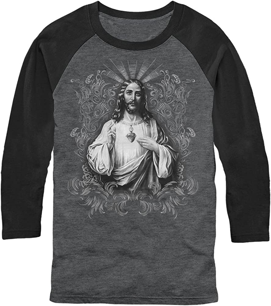 Aztlan Aztlan Sacred Heart Mens Graphic Sweatshirt