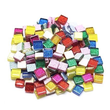 Azulejos de mosaico de cristal, de Dreamtop, varios colores con brillantina, con caja. Pasa ...