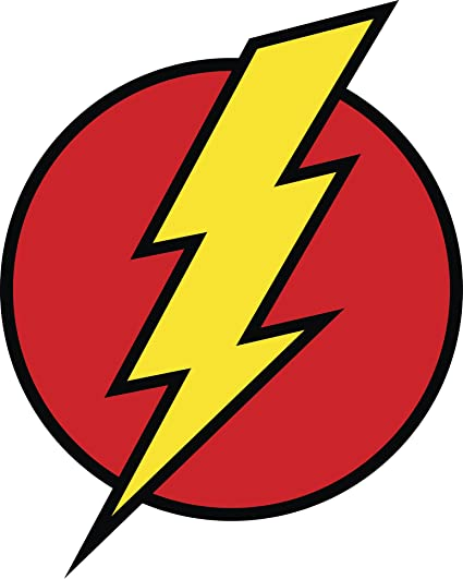 Comic Lighting Bolt Flash Cartoon Icon Vinyl Decal Sticker 4quot