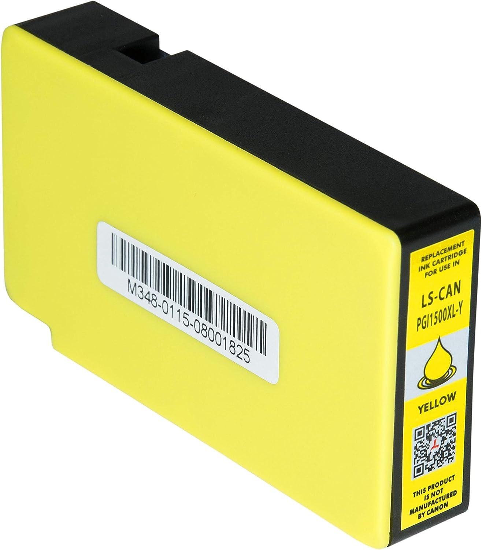Tintenpatrone Kompatibel Für Canon Maxify Mb2050 Maxify Mb2350 Pgi 1500xl Y 9195b001 Yellow 12ml Bürobedarf Schreibwaren