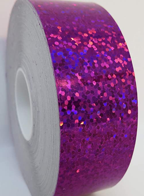 5m Roll Bright Violet Glitter Craft Tape Scotch Washi Tape