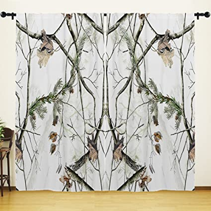 Amazon Com Youhome Window Curtain For Living Room White Realtree