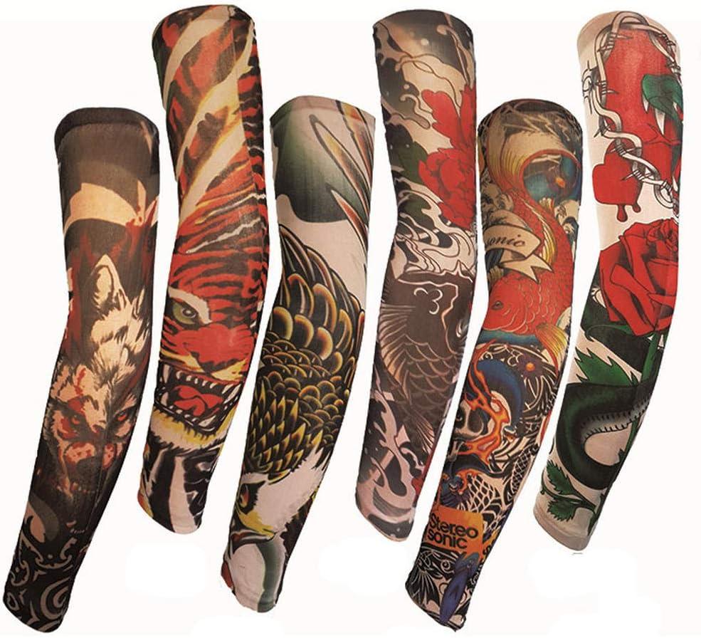 Mzqaxq Tattoo Sleeve 6 Unids/Set Tatuaje Imprimir Ciclismo ...