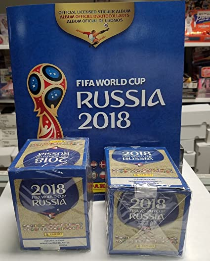 c694752ea 2018 Panini FIFA Wolrd Cup Russia Stickers Box & Album (100 Packs & 1 Album)  at Amazon's Sports Collectibles Store