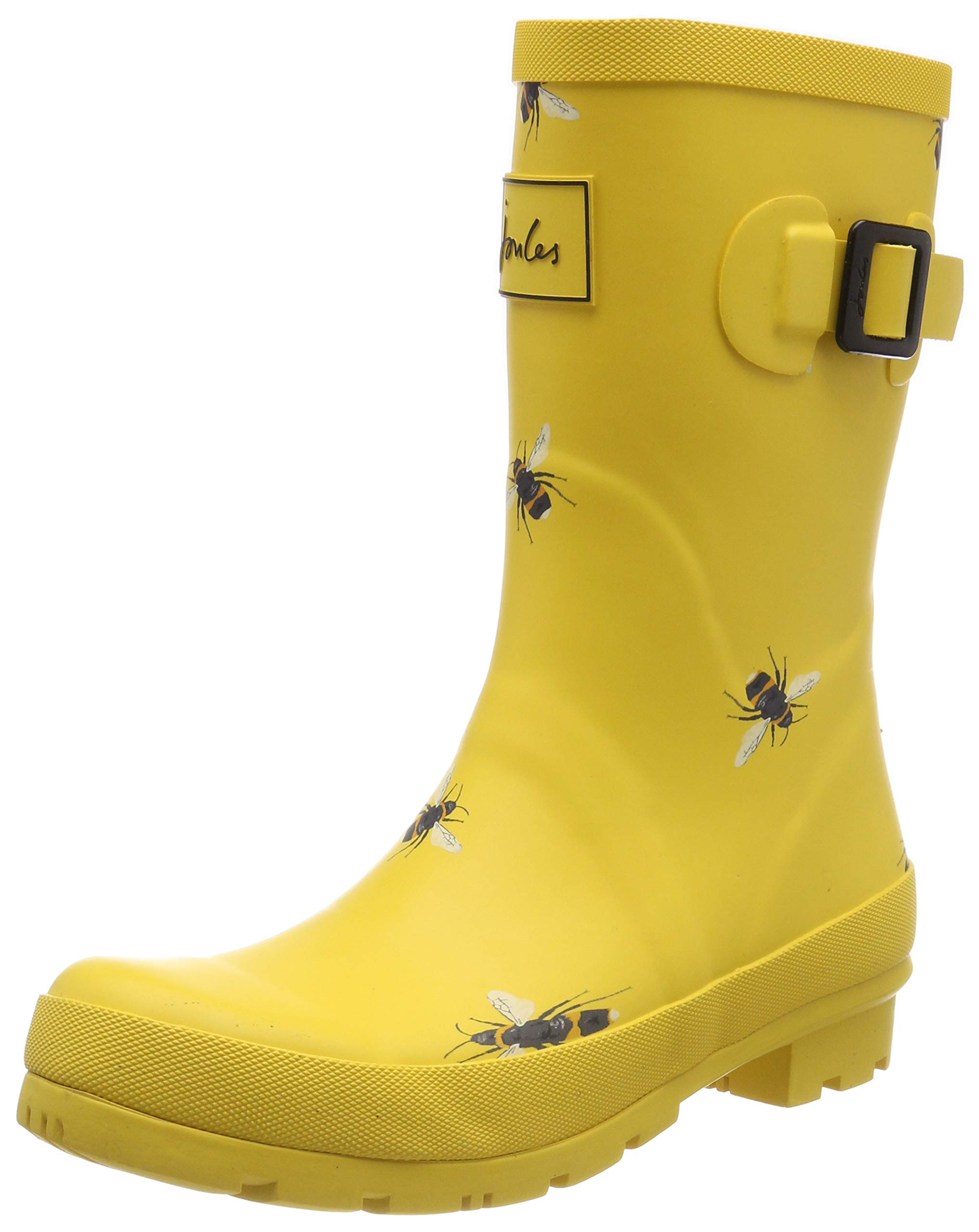 Joules Molly Welly Wellies 8 B(M) US Women / 7 D(M) US Gold Botanical Bee
