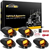 Partsam 5X Amber 24 LED Smoke Cab Roof Running Top Marker Lights 264146BK Assembly Wire Harness Replacement for Dodge…