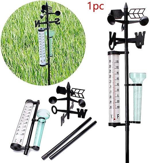 Kylewo Estación meteorológica para jardín, pluviómetro para estación meteorológica, pluviómetro para Viento y termómetro para jardín, Granja, Campo: Amazon.es: Hogar