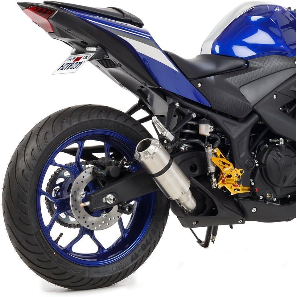 Hotbodies Racing 40801-2404 HON CBR1000RR 08-16 MGP Exhaust CF w//Stainless End Cap