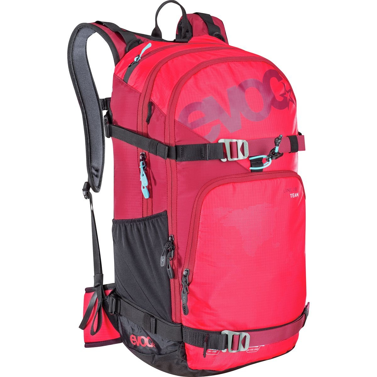 Evocラインチームバックパック – 1708 cu in B01LZ9KYFR  Red/Ruby One Size