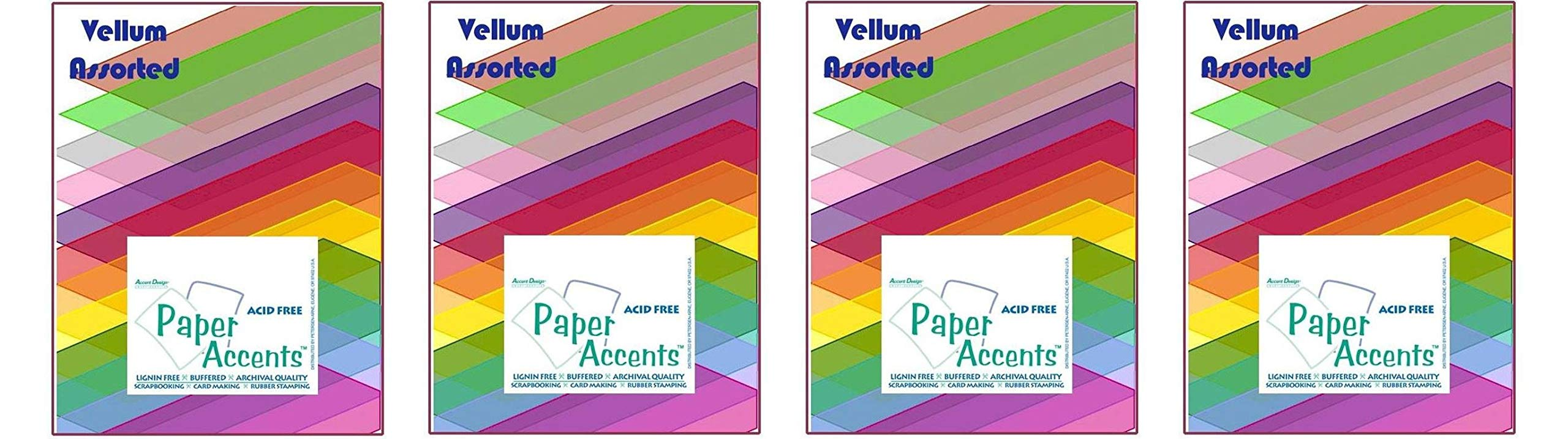 Accent Design Paper Accents ADP8511.1015 Paper Variety Pack Assorted Vellum (Fоur Paсk)