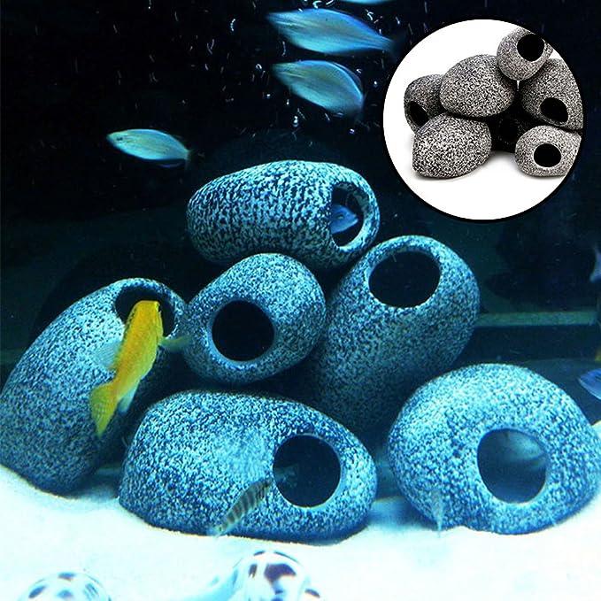 Ainstsk - Piedra Decorativa de Resina para Acuario, con filtración para Acuario, pecera, camarón para Refugio o generación: Amazon.es: Productos para ...