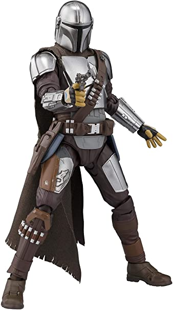 The Mandalorian Approx 150mm ABS /& PVC /& Cloth Painted S.H.Figuarts Star Wars