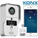 Portier audio et vidéo KONX 720p Wi-Fi, détecteur de mouvement, lecteur RFID + Sonnette 433Mhz