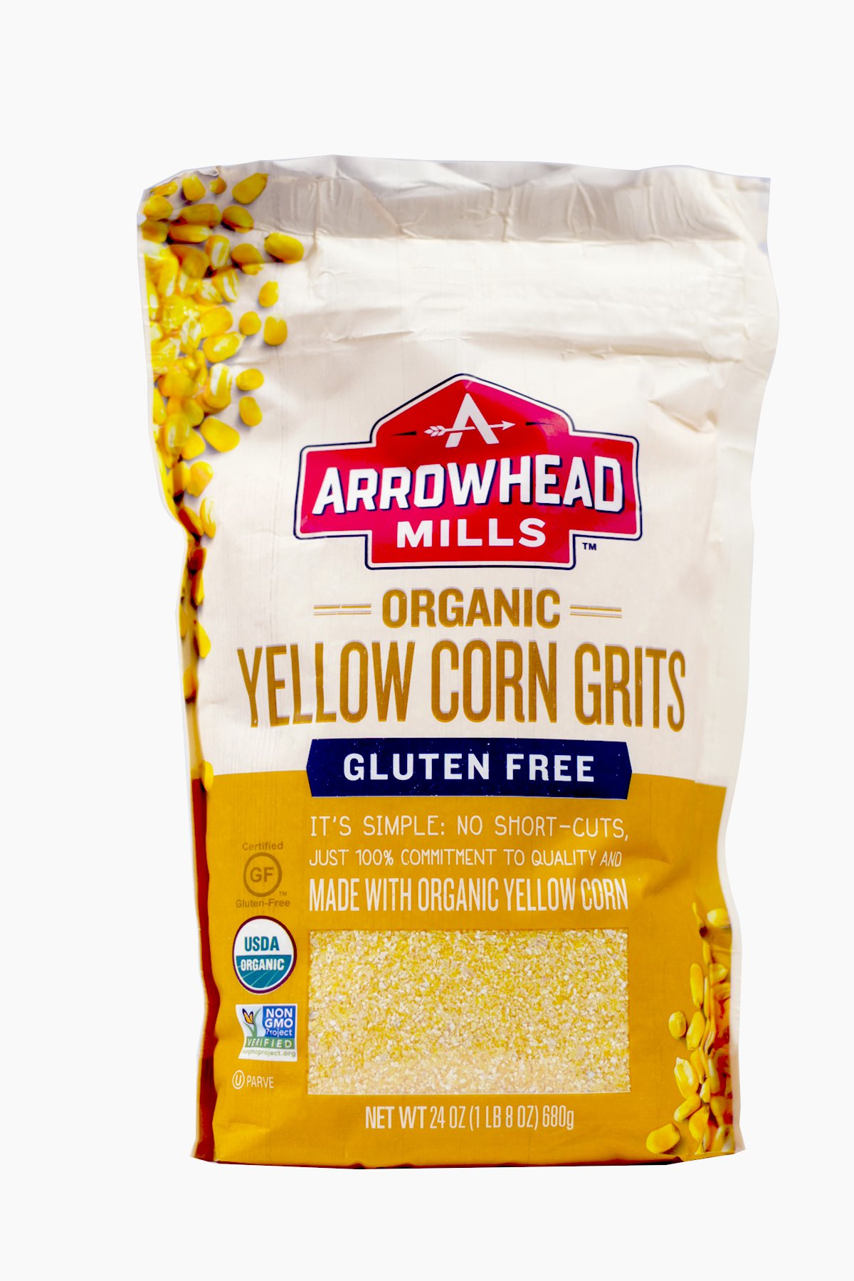 ARROWHEAD MILLS Organic Yellow Corn Grits, 24 OZ