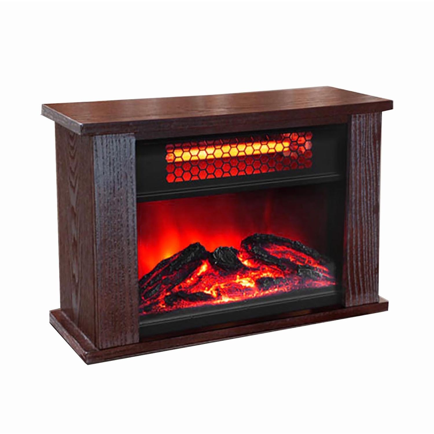 Amazon.com: LifePro Lifesmart 750 Watt Infrared Quartz Mini Wood Fireplace Space Heater: Home & Kitchen