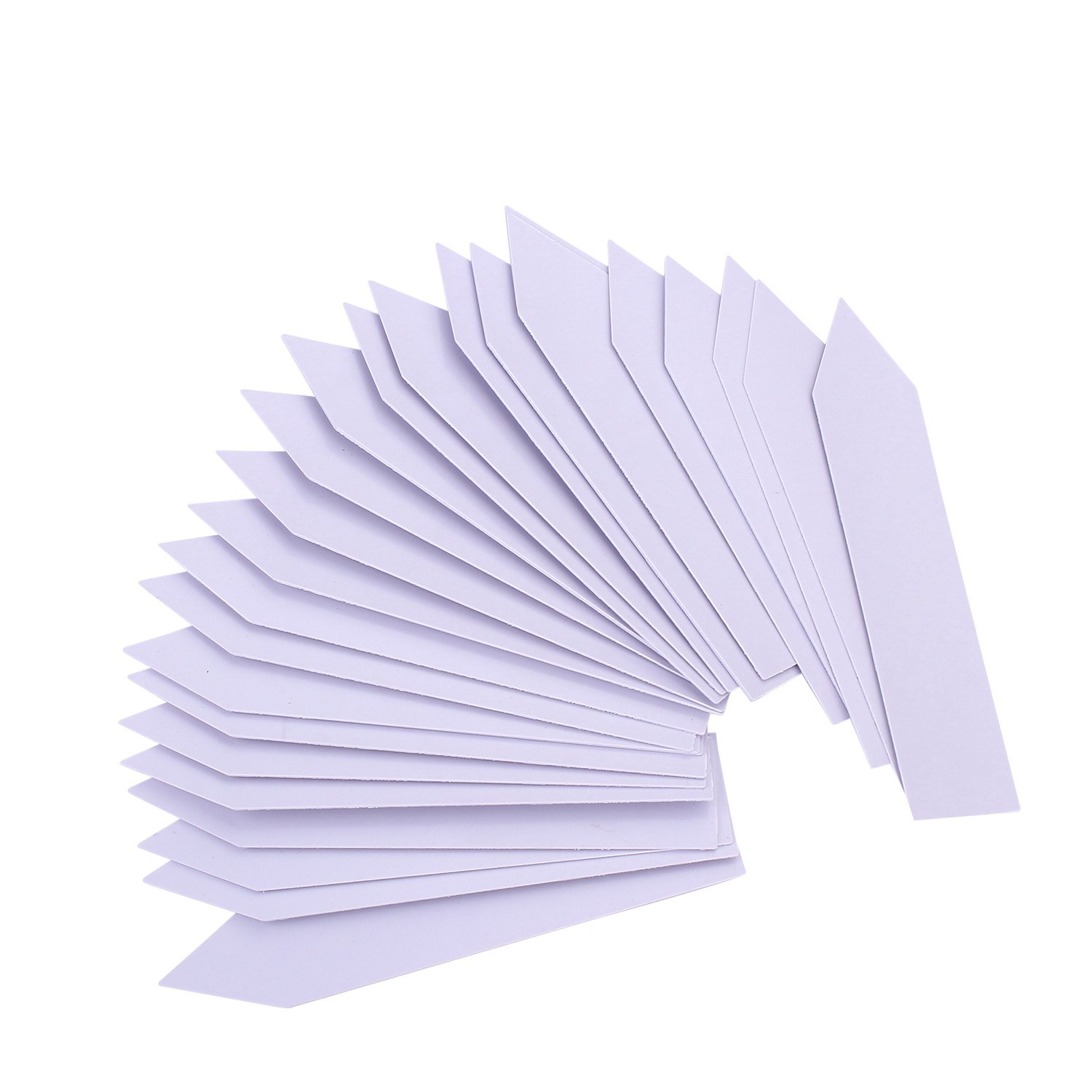100 Pcs PVC Waterproof Plant reusable Markers & Labels, Nursery Garden Tags, white 10*2 cm moinkerin