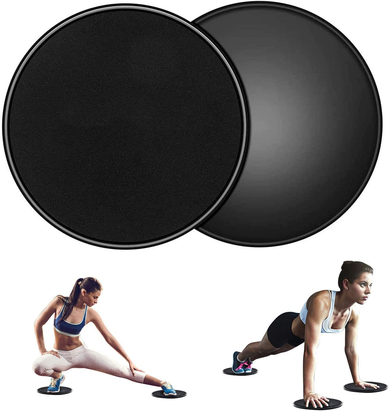 2 Pack Dual Sided Smooth Glider Discs Fitness Equipment for Abdominal and Core Workouts Sposuit Exercise Core Sliders Set for Ab Workout