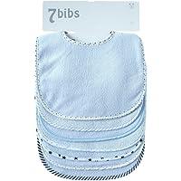 Baby dubbla lager av bomull mjuka absorberande dregel haklappar (7 delar)