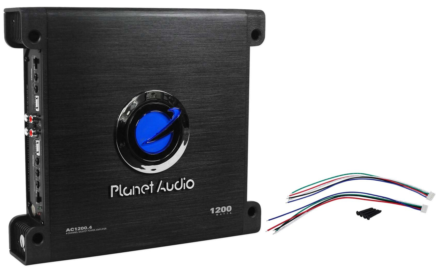 Planet Audio Anarchy AC1200.4 1200 Watt 4 Channel Car Amplifier+Amp Kit by Planet Audio (Image #2)