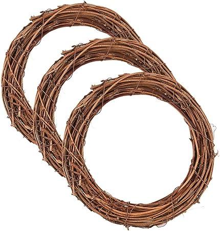 Christmas Wreath Handmade Willow Wicker Wreath Round Ring DIY Material