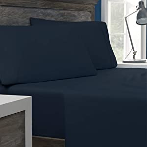 Columbia Tencel + Cotton Performance Sheet Set – Omni-Wick Moisture Wicking Stay Dry Technology – Naturally Soft, Cool, Breathable Temperature Regulating - Cal King 4-Piece Sheet Set, Nocturnal