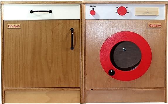 Obique Muebles de Cocina Juguete de Madera niños, Juego de 2 ...