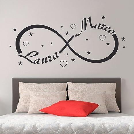 Wall sticker Simbolo Infinito Amore con Nome Adesivi Parete Murali ...