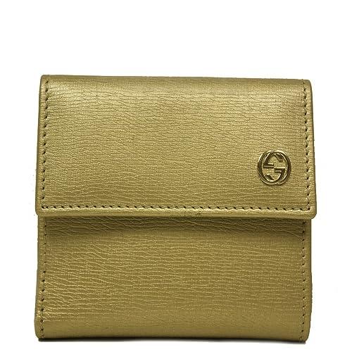 4de01d4b8f5d Gucci Gold Metallic Leather French Flap Wallet 309709  Amazon.ca  Shoes    Handbags