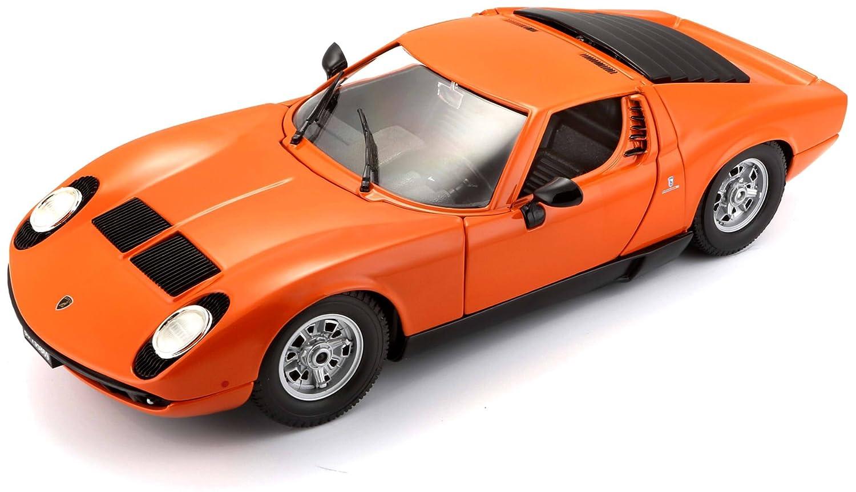 Bburago 1 18 Gold Lamborghini Miura 1968 Color May Vary Amazon