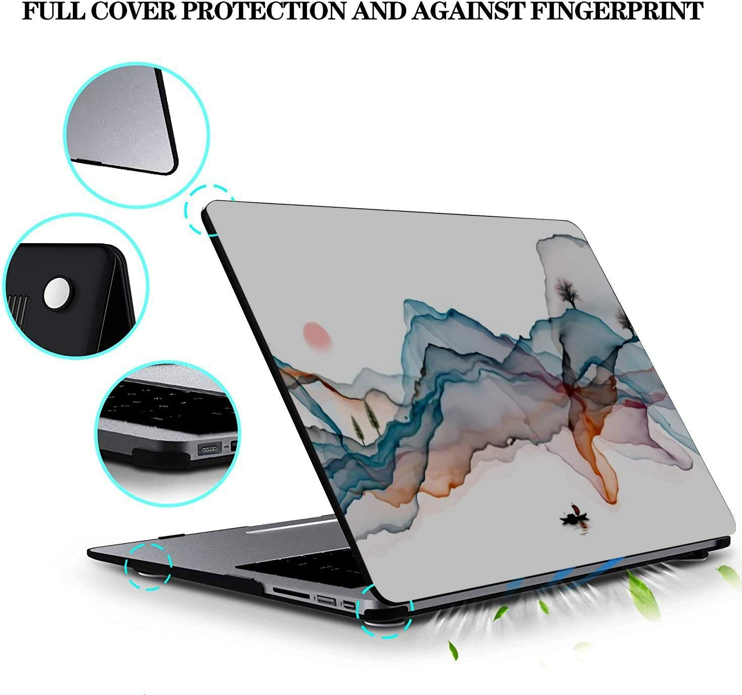 MacBook Pro Case Abstract Ink Painting Decorative Background MacBook Retina 12 A1534 Plastic Case Keyboard Cover /& Screen Protector /& Keyboard Clean
