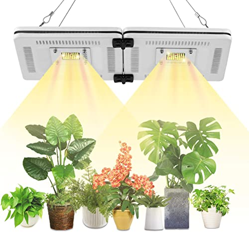 FECiDA 100W LED Grow Light Full Spectrum Sunlike, 500W CFL HPS CMH Grow Lights Equivalent, Professional Waterproof LED Plant Grow Light for Grow Tent, Indoor Garden, Hydroponics, Greenhouse