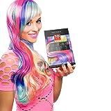 ARTEZA 10 Colors Hair Chalk Combs, Temporary Hair