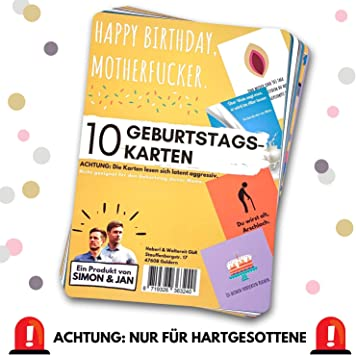 10 Glückwunsch Karten 10 verschiedene Motive Grußkarten Geburtstag Umschläge