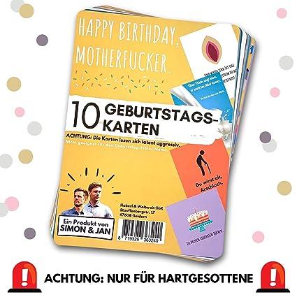 Tarjetas de cumpleaños (10 unidades) - Atención: ligeramente ...