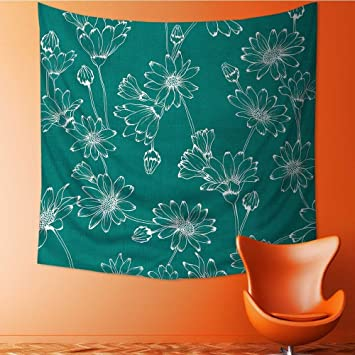 Amazoncom Print Decorative Throw Fabric Tapestry Wall Hanging - Decorative-floral-print-chairs-from-floral-art