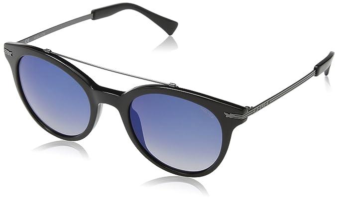 Police SPL141 gafas de sol, Azul (SHINY BLACK), Talla única ...