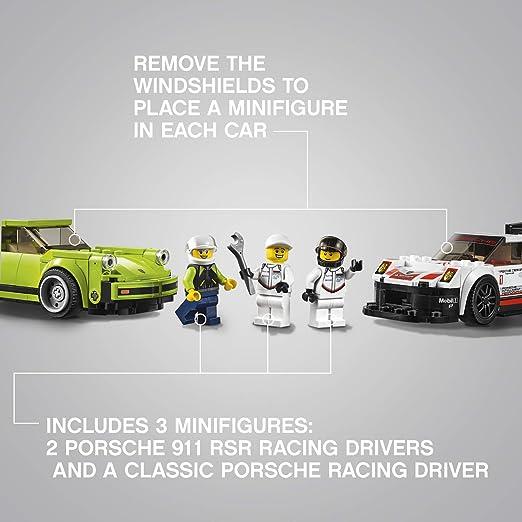 LEGO Speed Champions Porsche 911 RSR y 911 Turbo 3.0 75888 Kit de construcción (391 Piezas): Amazon.es: Juguetes y juegos