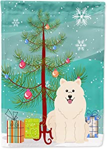 Caroline's Treasures BB4155GF Merry Christmas Tree Samoyed Flag Garden Size, Small, Multicolor