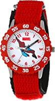 Marvel Boys' Spider-Man Red Time Teacher Watch