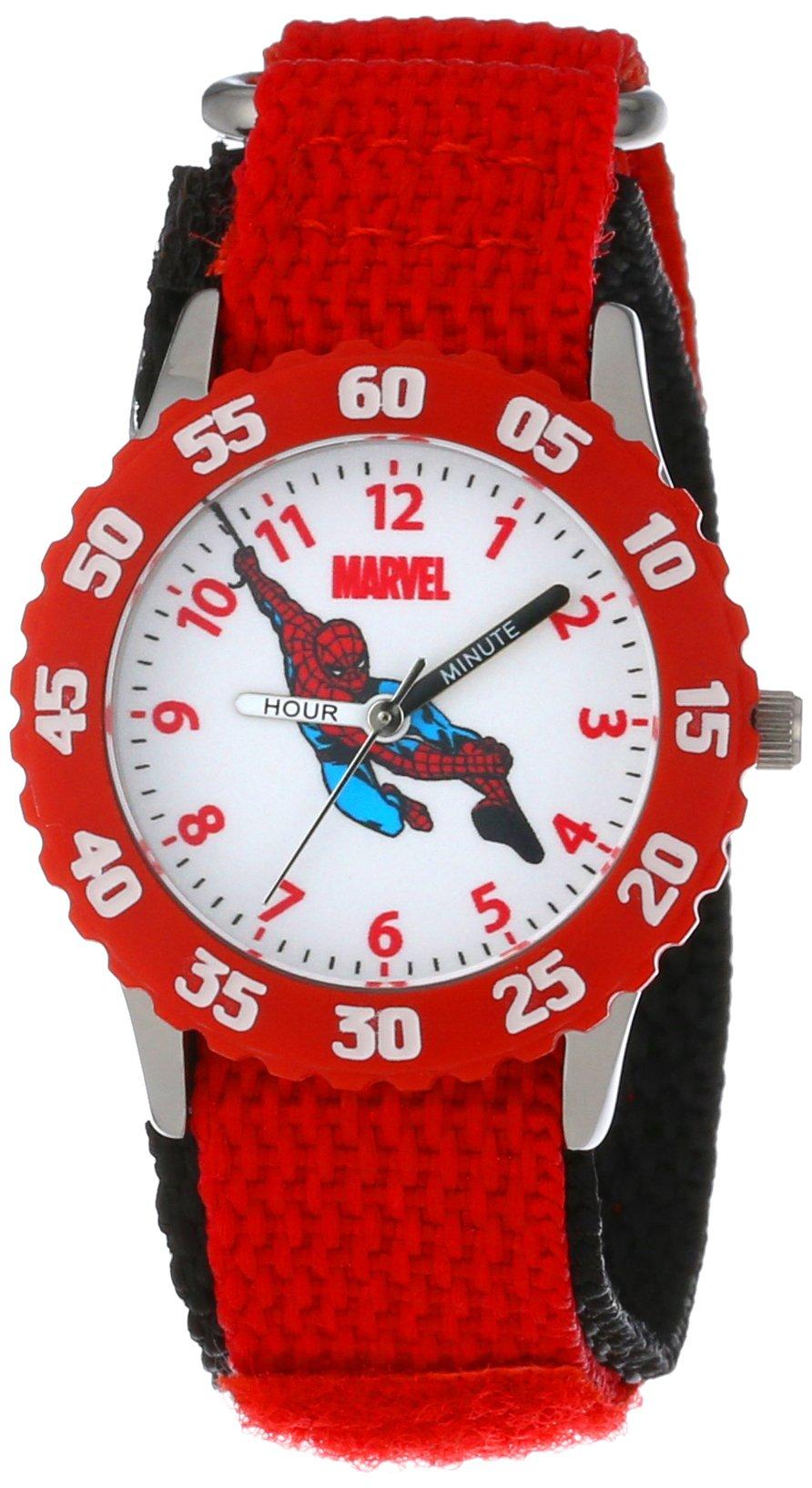 Marvel Kids' W000104''Spider-Man Time Teacher'' Stainless Steel Watch