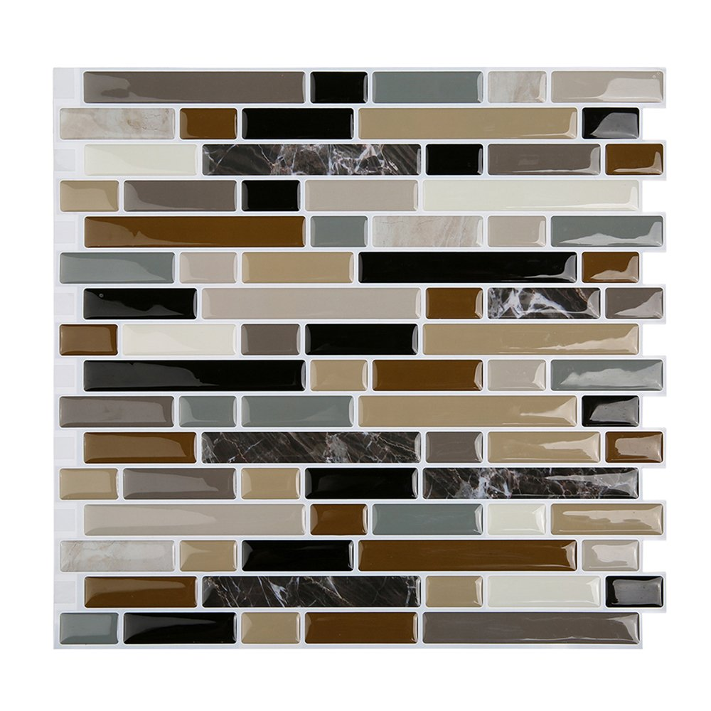 Magictiles Kitchen Backsplash Peel & Stick Tile Smart Brick, 10.65 x 10 (4 Tiles) Magic Tiles 430B0398