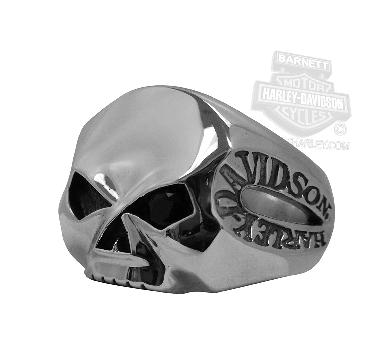harley davidson mens one eyed willie g skull silver ring 10 amazon com rh amazon com Harley- Davidson Stencil Patterns Harley- Davidson Lettering Stencils