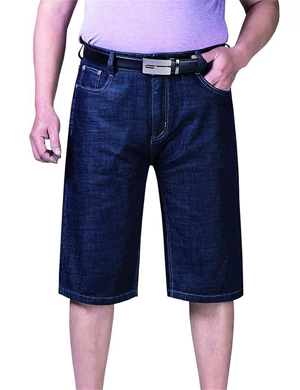 Vi-Fi Men's Big Tall Denim Shorts (Blue 26)