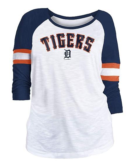 c4d6af5c Amazon.com : New Era Detroit Tigers Women's MLB Baseball 3/4 Sleeve ...