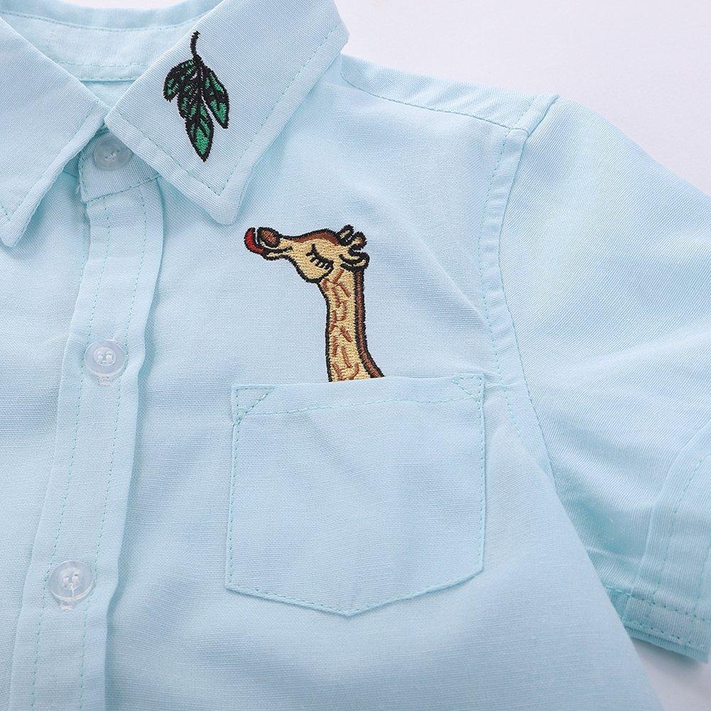 Motecity Fashion Little Boys Turndown Collar Cotton Polo-Shirt