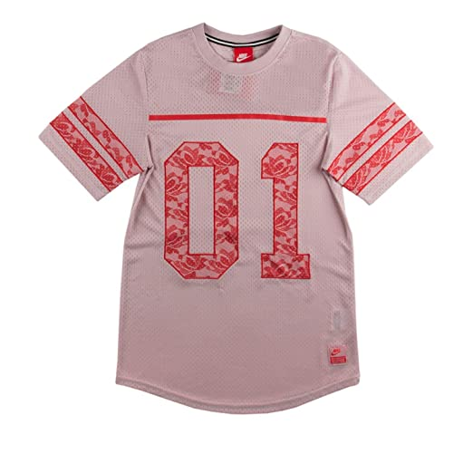 a15764737 Nike Womens Knows Lace Football Jersey Pink/Red at Amazon Women's ...