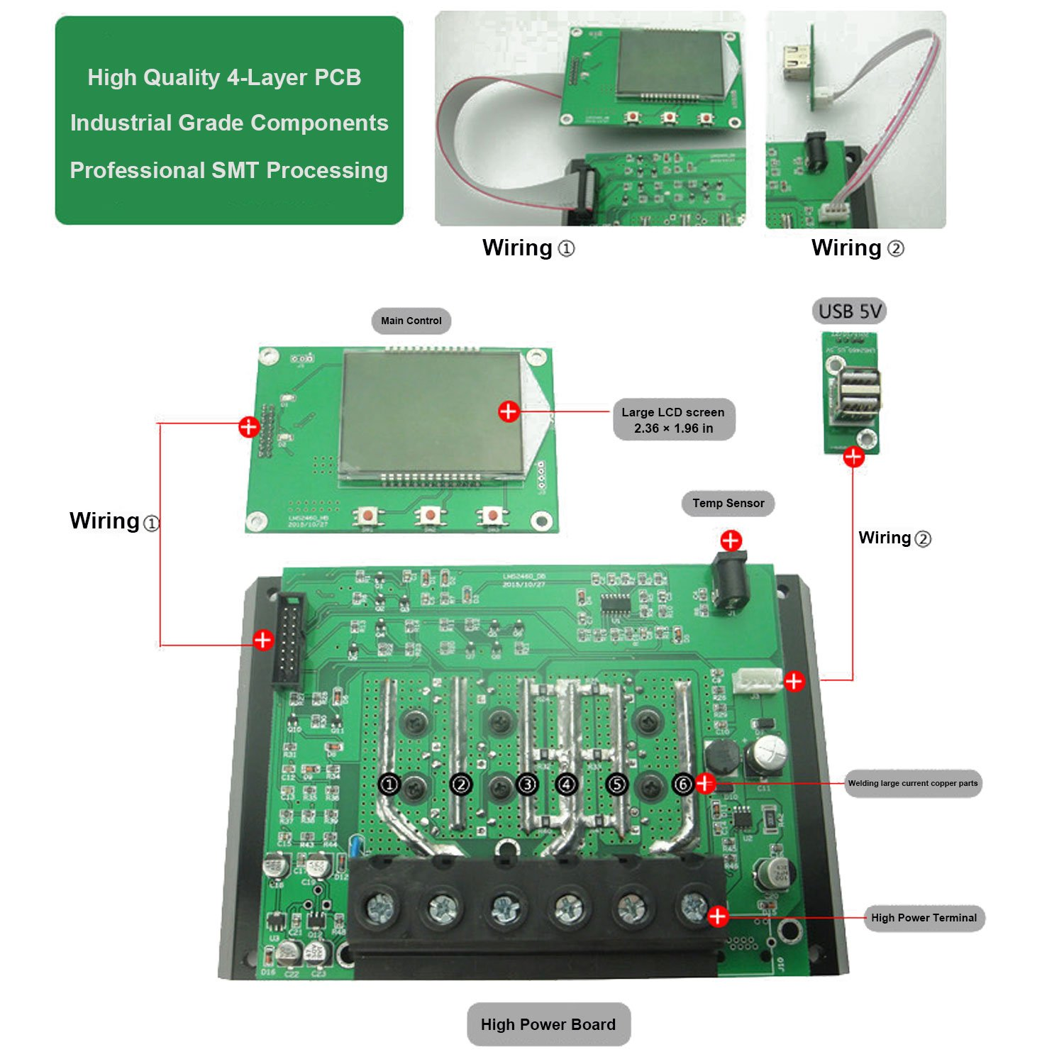 60a Solar Charge Controller 12v 24v Autoswitch 5v Dual Usb Output Panel Charger Circuit Larger Image