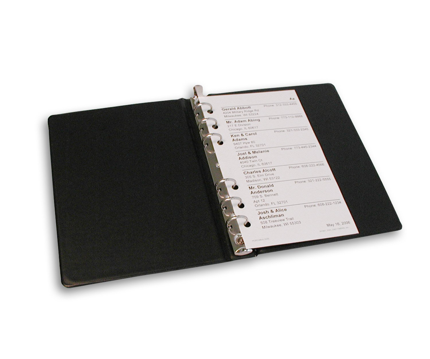 amazon com loose leaf binder 3 3 4 by 6 3 4 ring binders